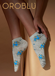 Oroblu Fine Cotton Joyful Socks 3 Pair Pack Zoom 2