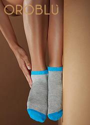 Oroblu Fine Cotton Joyful Socks 3 Pair Pack Zoom 3