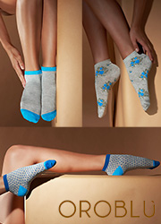 Oroblu Fine Cotton Joyful Socks 3 Pair Pack Zoom 1
