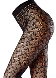 Oroblu Fishnet Macrame Fashion Footless Tights Zoom 2