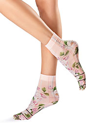 Oroblu Flower Picture Socks Zoom 1