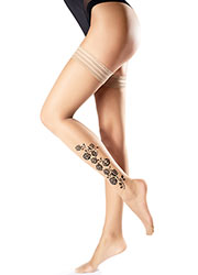 Oroblu Flower Rose 15 Hold Ups Zoom 1