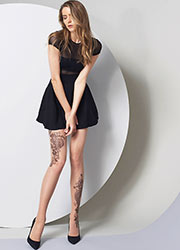 Oroblu Georgie Tattoo Effect Tights Zoom 3
