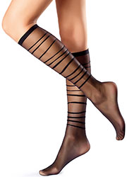 Oroblu Graphic Waves Knee Highs