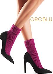 Oroblu Hilda Fine Cashmere Rolled Cuff Socks