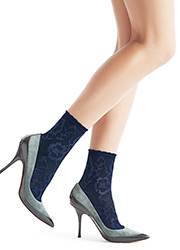 Oroblu Lorelie Lace Ankle Highs Zoom 2