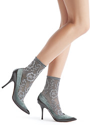 Oroblu Lorelie Lace Ankle Highs Zoom 1