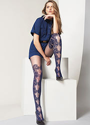 Oroblu Miriana Lace Effect Tights Zoom 3