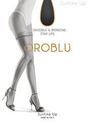 Oroblu Suntime Bronze Effect Diamond Top Hold Ups