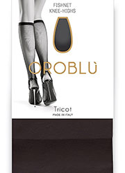 Oroblu Tricot Fishnet Knee Highs Zoom 1