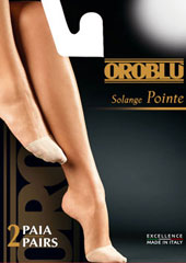 Oroblu Solange Pointe Toe Covers 2 Pair Pack