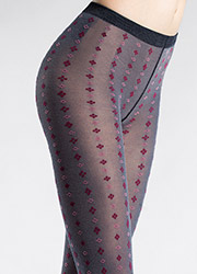 Pierre Mantoux Alba Patterned Tights Zoom 2