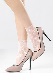 Pierre Mantoux Miranda Lace Ankle Highs Zoom 1