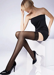 Pierre Mantoux Veloutine 30 Semi Opaque Hold Ups Zoom 1