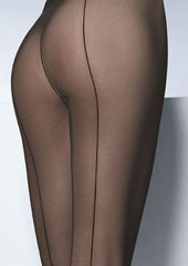 Pierre Mantoux Tulle Backseam Tights Zoom 2