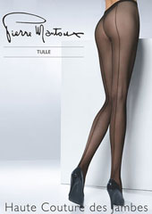 Pierre Mantoux Tulle Backseam Tights Zoom 1