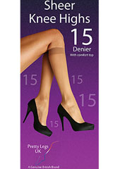 Pretty Legs 15 Denier Knee Highs 2 Pair Pack