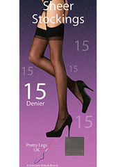 Pretty Legs 15 Denier Stockings 2 Pair Pack