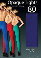 Pretty Legs 80 Denier Luxury Coloured Opaque Tights Zoom 2