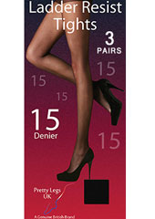 Pretty Legs Ladder Resist Tights 3 Pair Pack