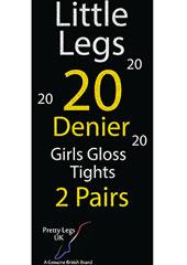 Pretty Legs 20 Denier Girls Gloss Tights 2 Pair Pack Thumbnail