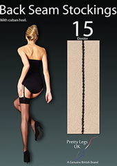 Pretty Legs Luxury Backseam Stockings Zoom 2