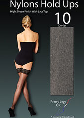 Pretty Legs Nylons Luxury Lace Top Hold Ups Zoom 2