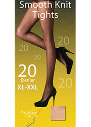 Pretty Legs Smooth Knit Plus Size Tights