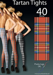 Pretty Legs 40 Denier Tartan Design Tights Zoom 2