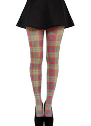 Pamela Mann Benton Plaid Tartan Printed Tights Zoom 2