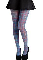 Pamela Mann Jackson Plaid Printed Tights
