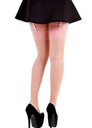 Pamela Mann Jive Seamed Dotty Stockings Thumbnail