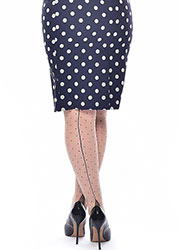 Pamela Mann Jive Seamed Dotty Tights Zoom 2