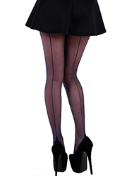 Pamela Mann Jive Seamed Tights Navy
