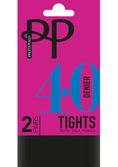 Pretty Polly 40 Denier Opaque Tights With Silk Finish (2PP)