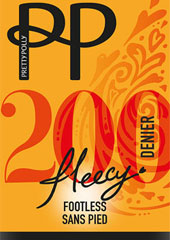 Pretty Polly 200 Denier Fleecy Opaque Footless Tights Thumbnail