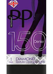Pretty Polly 150 Denier Diamond Texture Opaque Tights