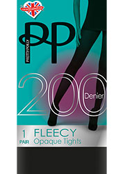 Pretty Polly 200 Denier 3D Fleecy Tights Zoom 2