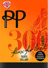 Pretty Polly 300 Denier Marl Fleecy Opaque Tights Thumbnail