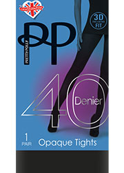 Pretty Polly 40 Denier New 3D Opaque Tights