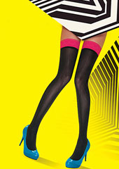 Pretty Polly Allsorts Coloured Top Hold Ups Zoom 3