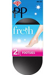 Pretty Polly Cotton Fresh Footsie 2 Pair Pack