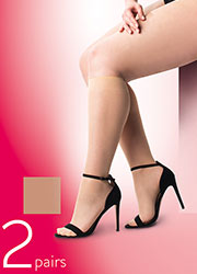 Pretty Polly Curves 15 Denier Cooling Knee High 2PP Zoom 2