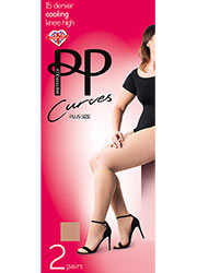 Pretty Polly Curves 15 Denier Cooling Knee High 2PP