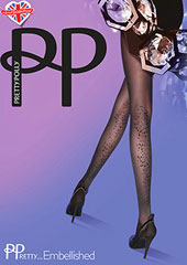 Pretty Polly Pretty Embellished Flower Tights Thumbnail
