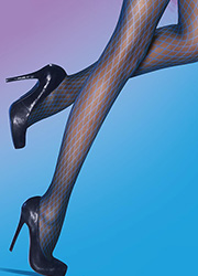 Pretty Polly Blue Diamonds Fashion Tights Zoom 2