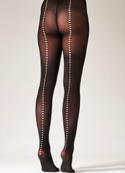 Pretty Polly Fashion Cut Out Backseam Tights Zoom 2