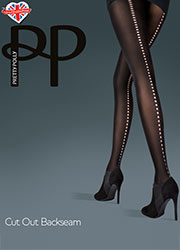 Pretty Polly Fashion Cut Out Backseam Tights