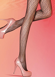 Pretty Polly Diamonds Net Fashion Tights Zoom 2