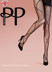 Pretty Polly Fashion Diamond Fishnet Tights Zoom 1